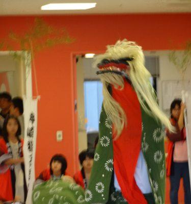 獅子舞がやってきた~\(^o^)/