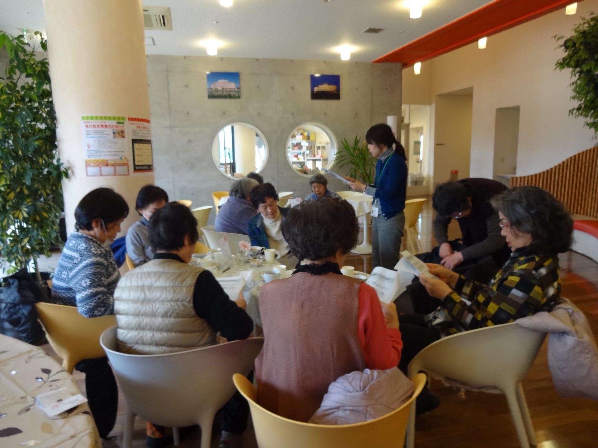 認知症カフェ「ひととき」 2月『健康ミニ講座』開催